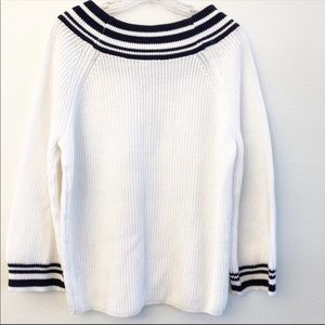 Express Sweaters - NWT EXPRESS Navy and White Pullover Sweater SZ XS